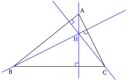 Triangle Hauteurs